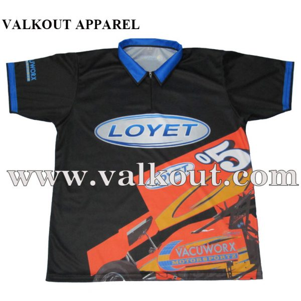 cc3318c32 Wholesale 100% Polyester Sublimation Auto Racing Team Polo Shirts ...