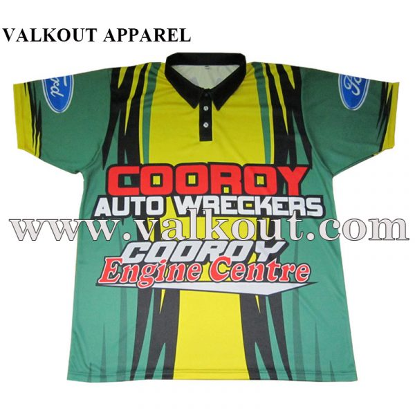 Sublimated Lawn Bowls Polo Shirt With Custom Design Valkout