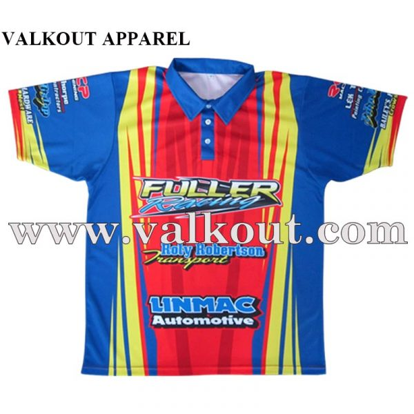 Wholesale Custom Dye Sublimation Quick Dry Bowling Polo