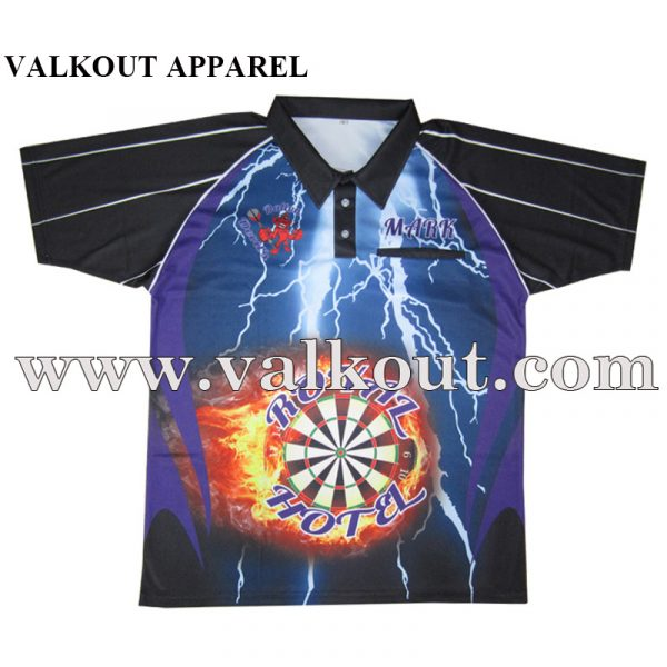 64ba7cc80 Dri Fit Mens Custom Sublimated Light Weighht Darts Polo T Shirts ...