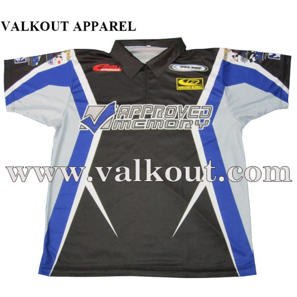 6a91a40e Custom Artwork Drag Racing Polo T Shirt Crew Shirts Karting Racing Shirts