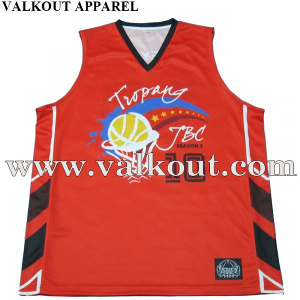 Polyester Sublimation Printing Basketball Jersey Latest Design