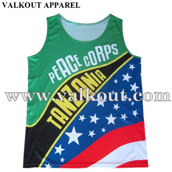 Custom Design Style Polyester Gym Wholesale Running Singlet Made in China bb45a23eb