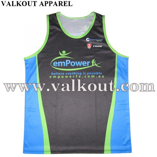 4b6ea9be3 Free Design Custom 100% Polyester Sublimated Running Singlets with No MOQ