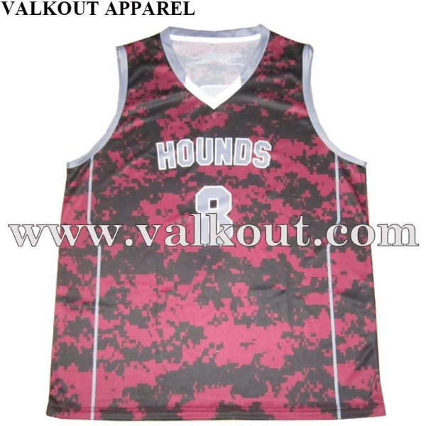 Latest College Basketball Jersey Uniform Design With Letter
