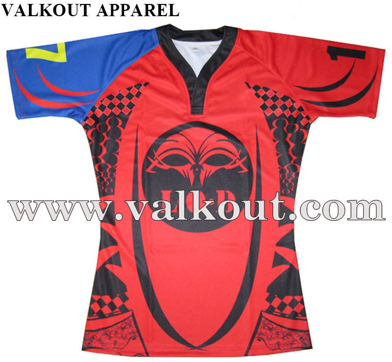 AFL Sublimation Rugby Shirt Durable Strong Fabric Rugby ...