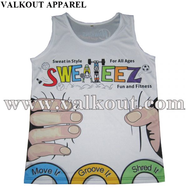 Breathable Custom Logo Cheap Sublimated Wholesale Running Singlet ... 6465864708d6