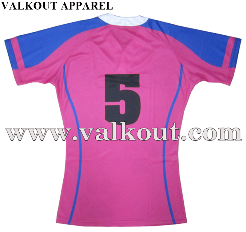 Custom Digital Printing Strong Fabric Rugby Shirt ...