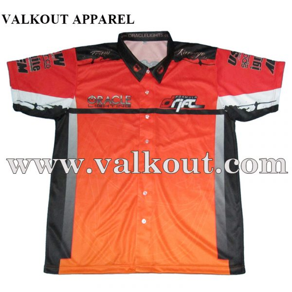 Custom Sublimation Sports Polo Shirts With Buttons Up Collar