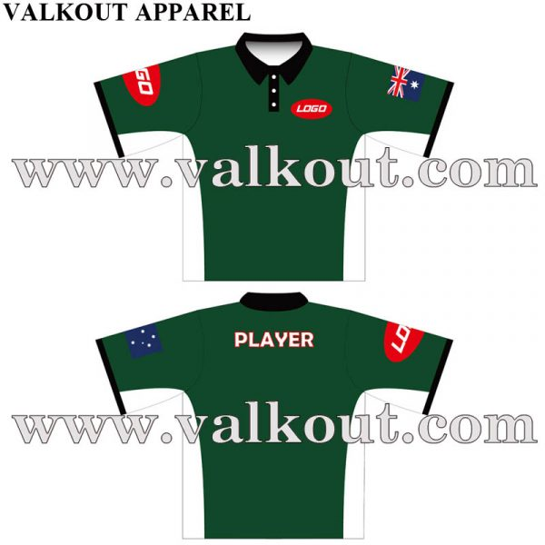 Custom Made Your Own Sublimated Printed Polo Shirts Design Valkout