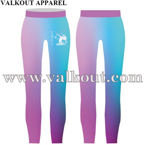 cfdf16b177 Custom Sublimated Women Gym Leggings Custom Logo Compression Tights.  V-YP-007