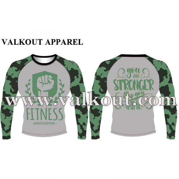 409d7555 Promotional Fully Sublimated Long Sleeve Rash Guard | Valkout ...
